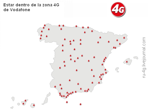 Vodafone Spain LTE Cover Map 02042014
