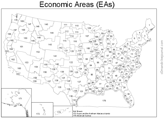 Economic Areas including Gulf of Mexico Map