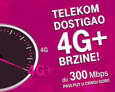 T Mobile Montenegro LTE test 300 Mbs promo