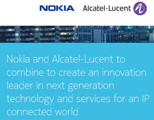 Nokia plus Alcatel Lucent_