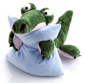 Крокодильчик с подушкой
