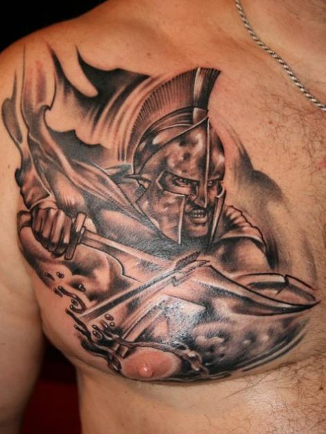 Правые тату на грудь