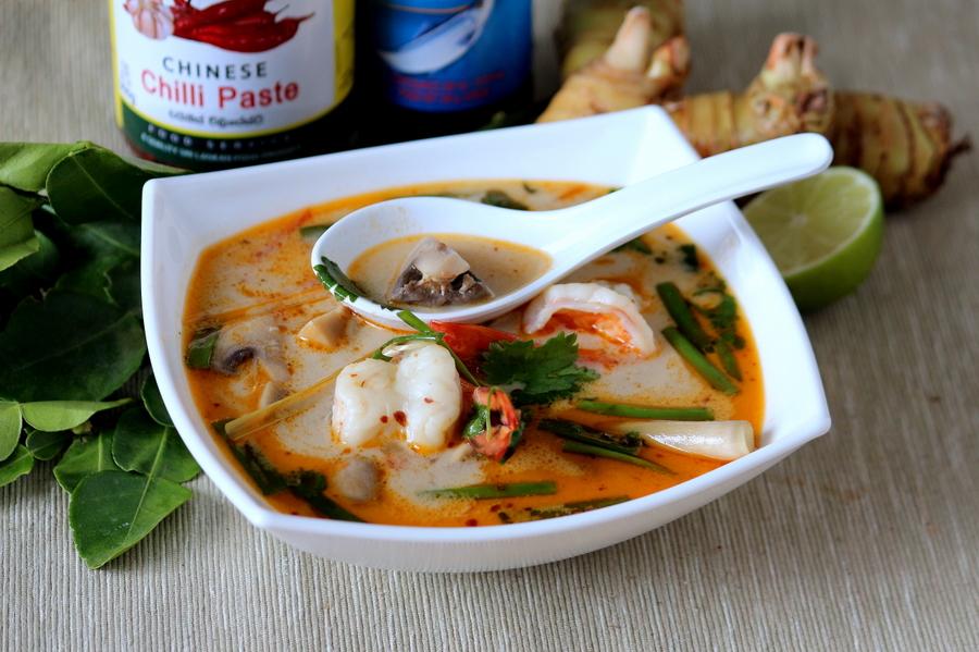 как приготовить суп том кха с морепродуктами
