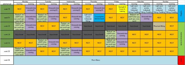 MB training plan