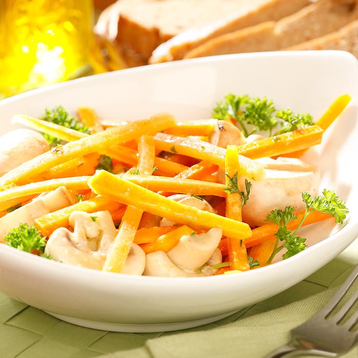 Острый салат с тыквой и шампиньонами (новое)