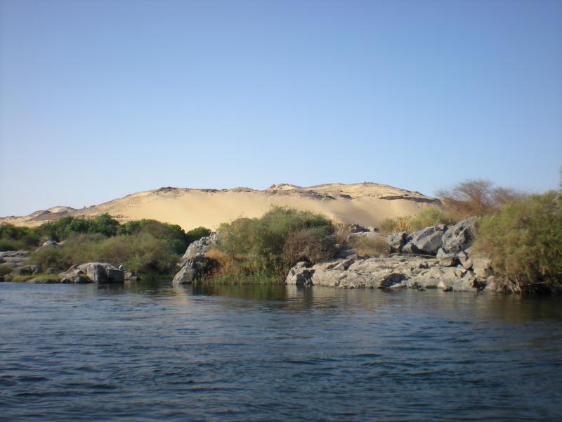 по дороге в нубийскую деревню