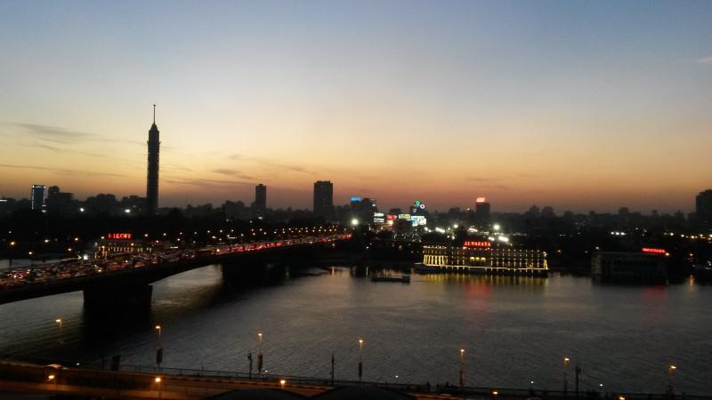 вид на Cairo tower и Нил