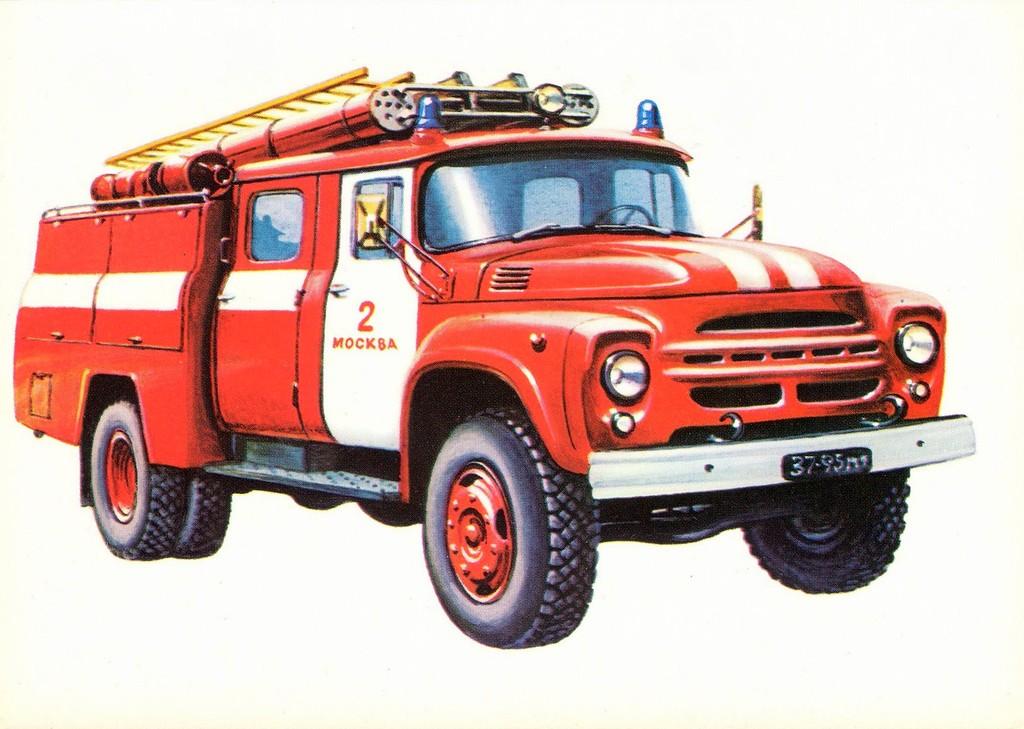 Солнцестояние, пожарные машины открытки