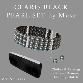 Black Pearl in Silver