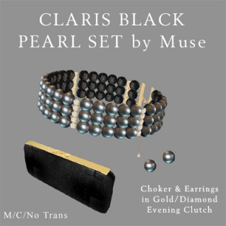 Black Pearl in Gold
