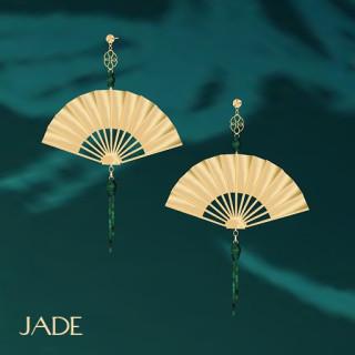 Jade Fan Earrings