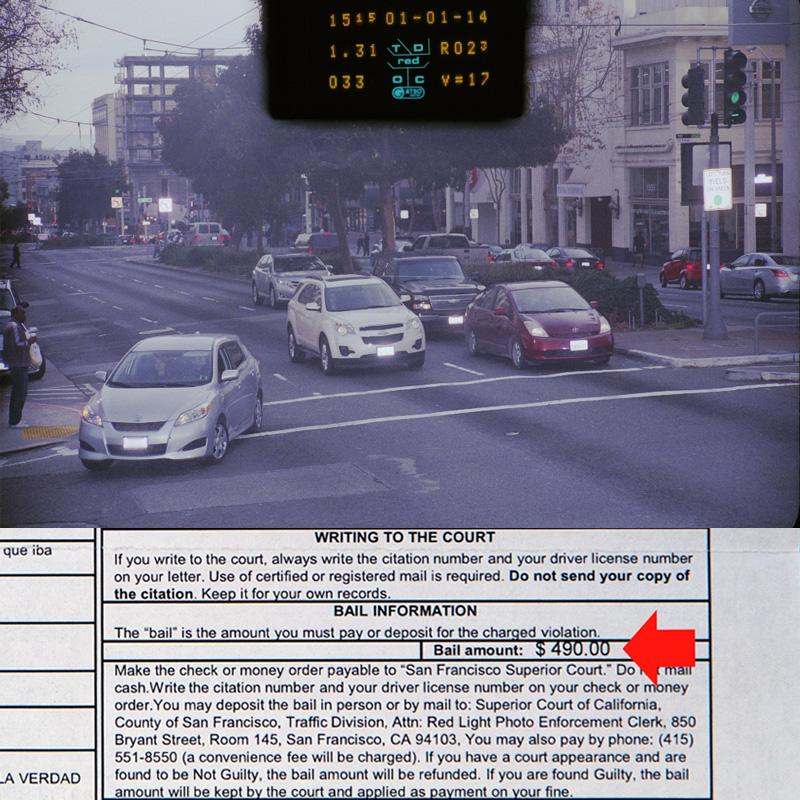 цена штрафа за проезд на красный свет
