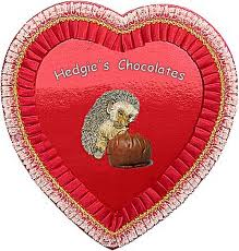 heart with hedgehogs
