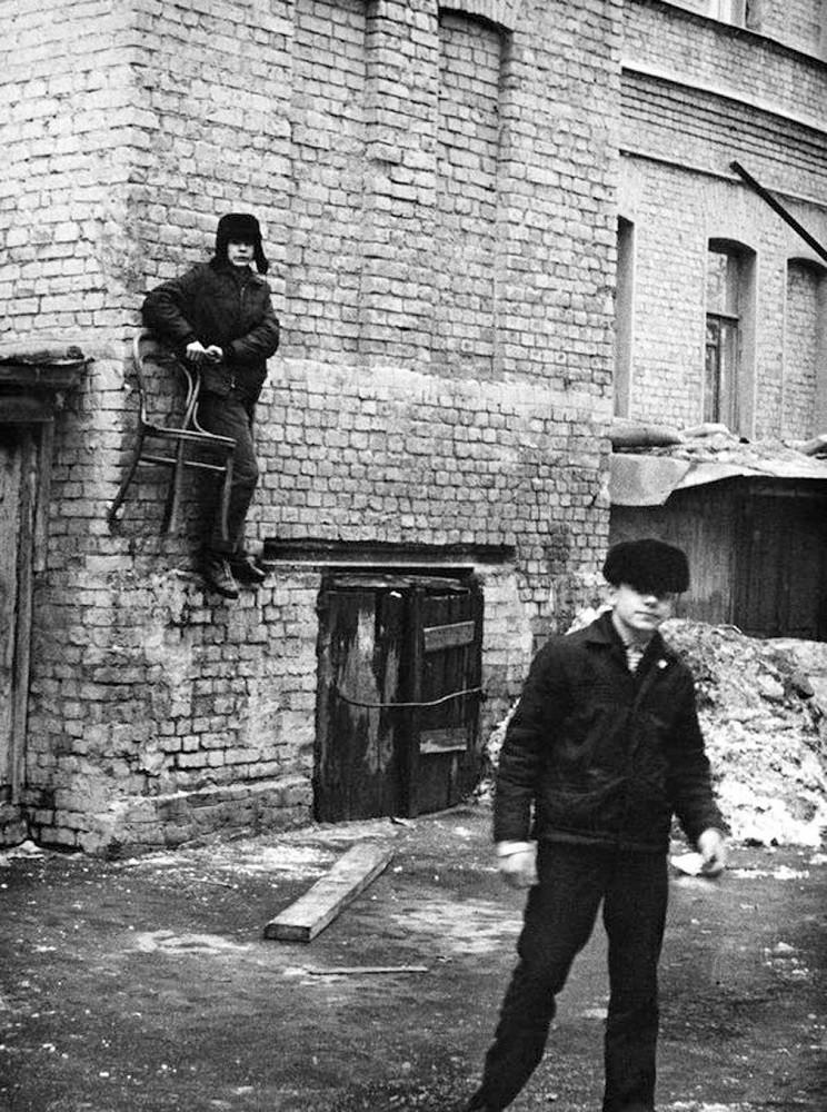 70-е годы. Баскетбол. Москва. Двор на Пятницкой улице