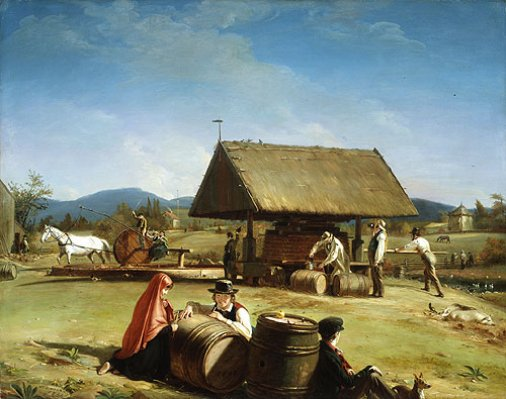 William-Sidney-Mount-Cider-Making-Oil-Painting
