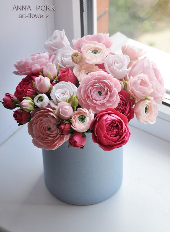 Как сделать цветочную композицию в коробке