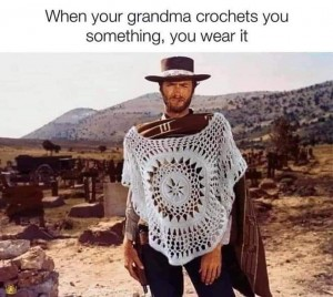 The Good The Bad and The Ugly crochet meme