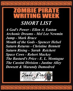 Zombie Pirate Publishing short list for The Ringed Giant