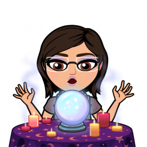 Crystal ball Bitmoji cartoon