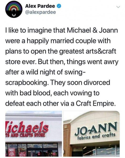 Jo-Ann's Vs Michaels Meme