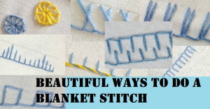 Blanket stitch guide