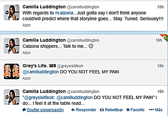 Sara/Jessica/Camilla's tweets: callie_arizona — LiveJournal