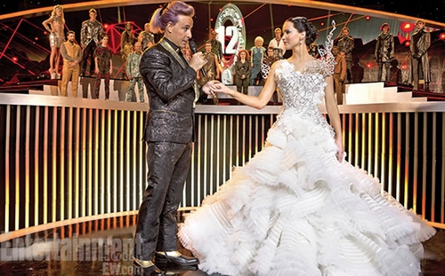 katniss everdeen wedding dress, catching fire