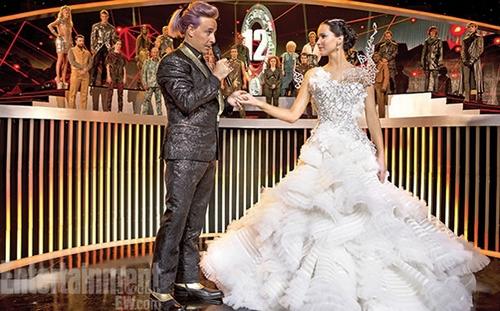 katniss everdeen wedding dress, catching fire