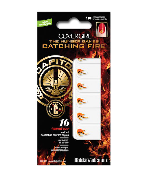 CoverGirls Catching Fire Capitol Collection - nail decals - crimson blaze