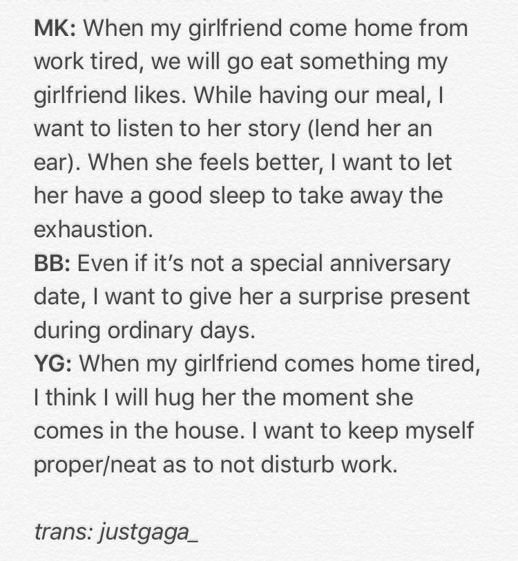 GOT7 discuss ideal types and boyfriend scenarios: omonatheydidnt