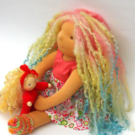 doll whith natural locks hair