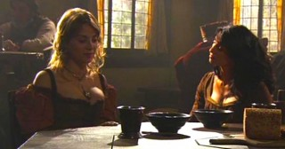 Denya & Vala share a meal in the tavern