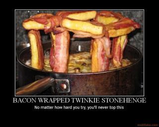 Twinkiehenge with Bacon