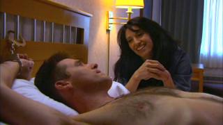 Vala tends her patient, Cam