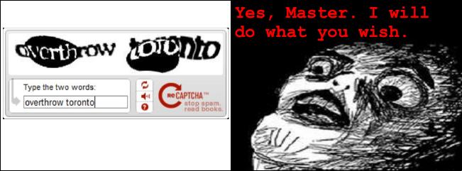 2 panel comic of CAPTCHA with awe-struck minion