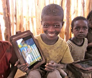 Smiling boy in Ethiopia Literacy Pilot