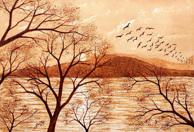 https://images.fineartamerica.com/images-medium-large-5/late-autumn-sunset-original-coffee-painting-georgeta-blanaru.jpg