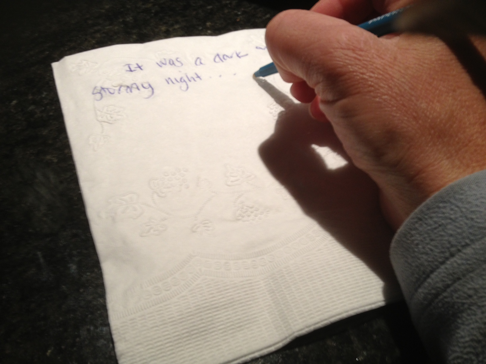 Notes on a napkin