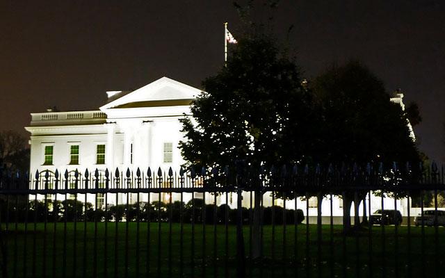 White House at Night. Washington, DC. Nov 2016.