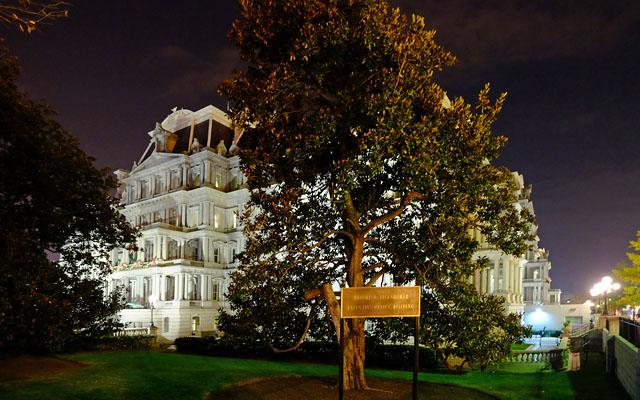 Eisenhower Executive Office Building at Night. Washington, DC. Nov 2016.