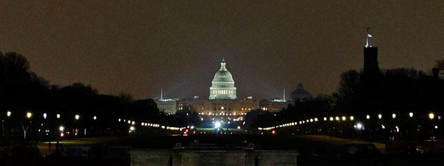 The Capitol at Night, Washington DC. Nov 2016.