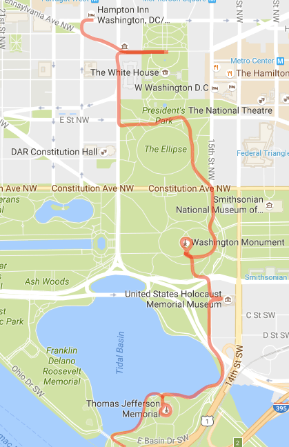 Midnight Tour of Washington, DC - halfway point. Nov 2016.