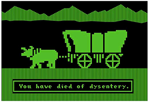 You have died of dysentery.