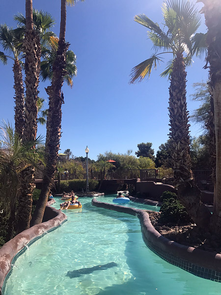 Lazy river pool at our hotel, Oct 2017