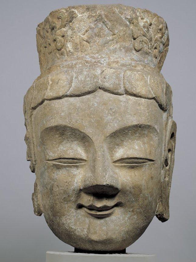 25. Голова бодхисаттвы из Музея изобразительного искусства Осаки.