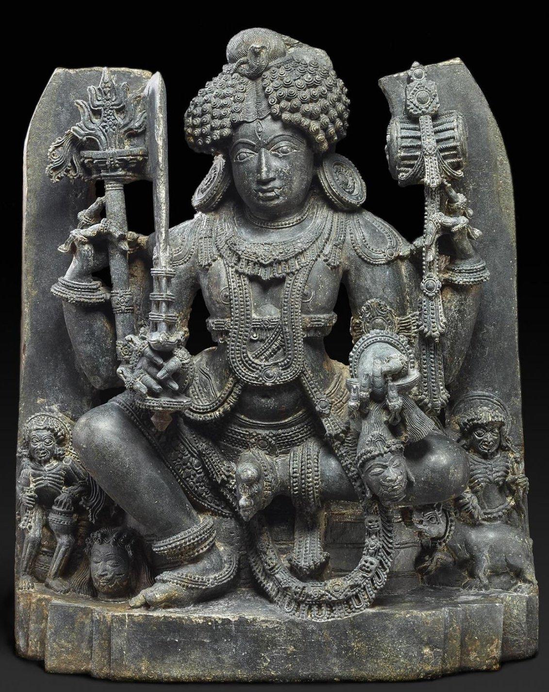 4. Бхайрава. Каматака, Индия 1200-1250 г. Британский музей