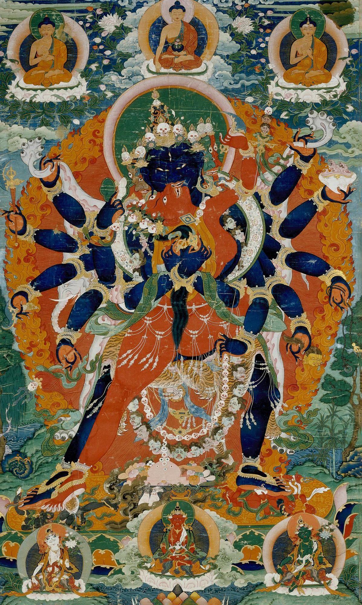 1. Чакрасамвара в союзе с Ваджрайогини. Тибет, 18 в. Британский музей