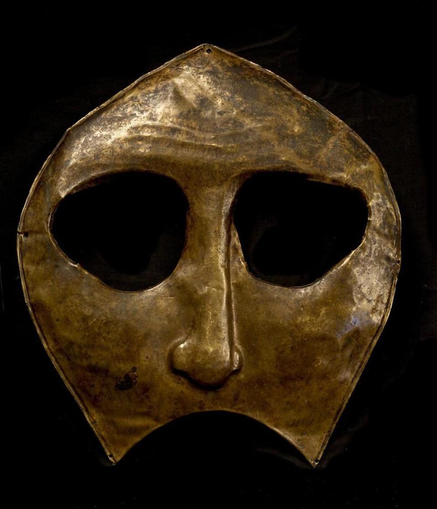 5. Ритуальная маска эвенков (первоначально - часть иконы), Россия 1600-1899, МАЭ