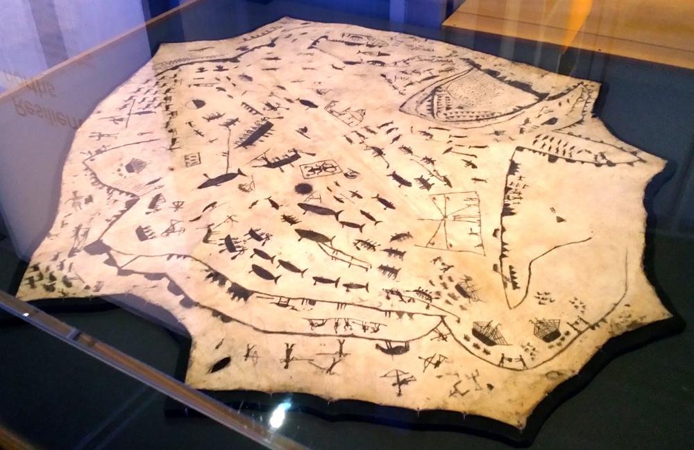 25. Карта Берингова пролива. Чукчи, 1850-1865 г, Музей Питт-Риверса, Оксфорд