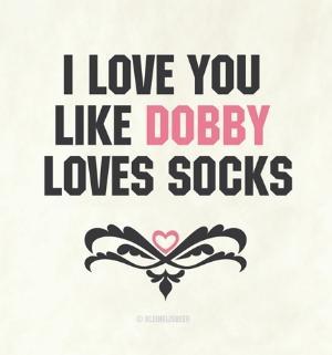 iloveyoulikedobbylovessocks